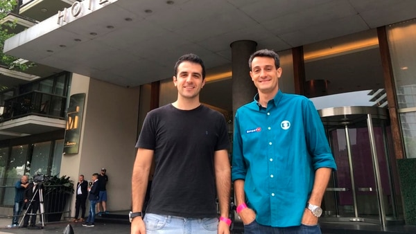 Crepaldi y Alencar fueron dos de los enviados de la cadena Globo brasileña para cubrir la Superfinal de la Libertadores