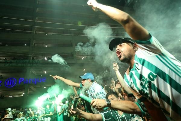 El estadio Allianz Parque colmado por torcedores del Palmeiras (Reuters)