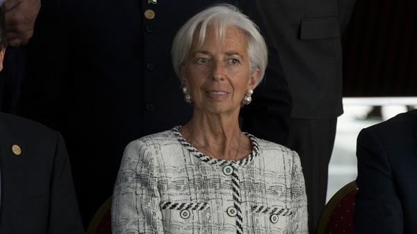 Christine Lagarde del FMI. Ecuador busca un acuerdo similar al que consiguió la Argentina con el organismo (Adrián Escandar)