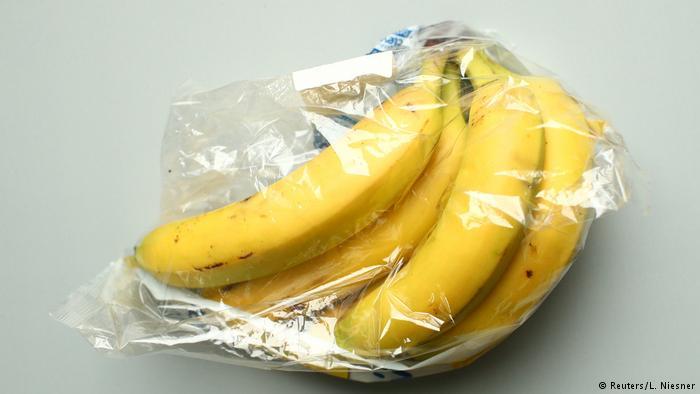 Plátanos empaquetados.