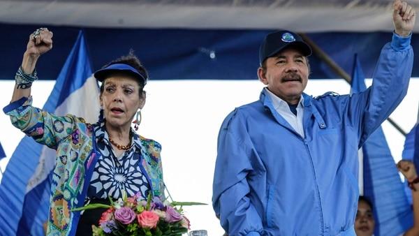 Murillo y Daniel Ortega (AFP)