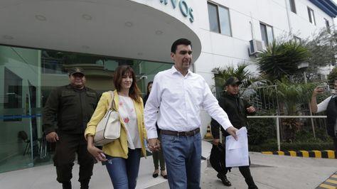 El alcalde suspendido José María Leyes es dado de alta tras su internación por un problema de salud. Foto:APG