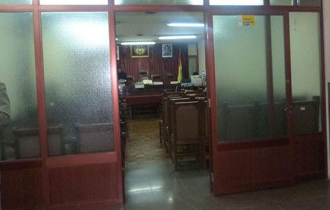 La sala de un Tribunal de Justicia.