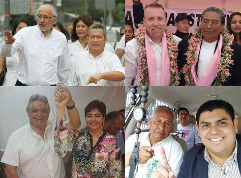 Cuatro binomios de la oposición que postulan a las primarias.