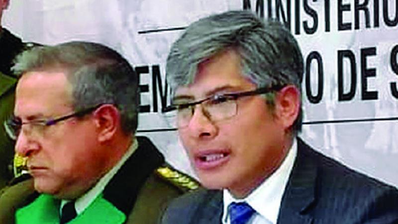Resultado de imagen para general faustino Mendoza y viceministro Wilfredo Chavez