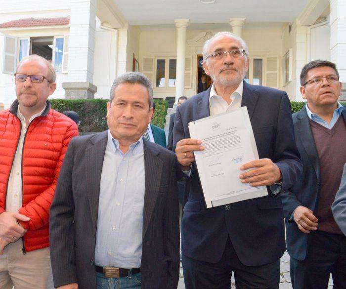 LOS DOS BINOMIOS: CARLOS MESA Y GUSTAVO PEDRAZA POR COMUNIDAD CIUDADANA.