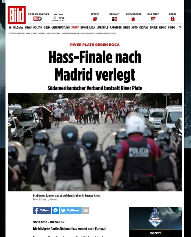 La final se traslada al Madrid (Bild, Alemania)