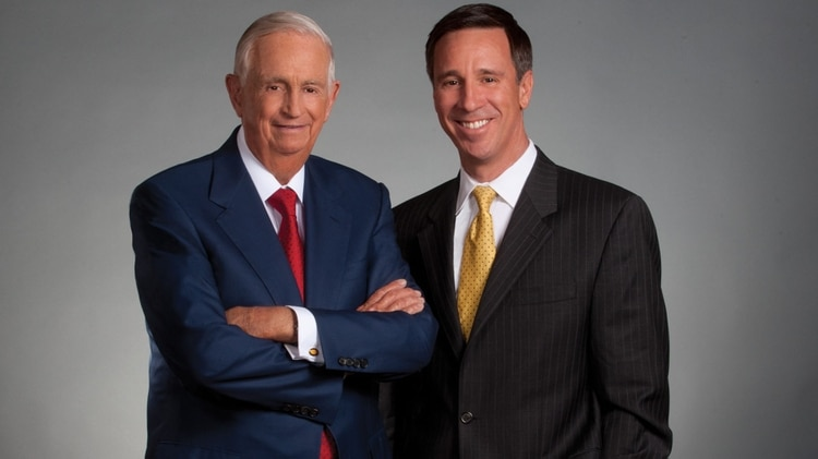 Bill Marriott y Arne Sorenson, presidente y CEO de Marriott International