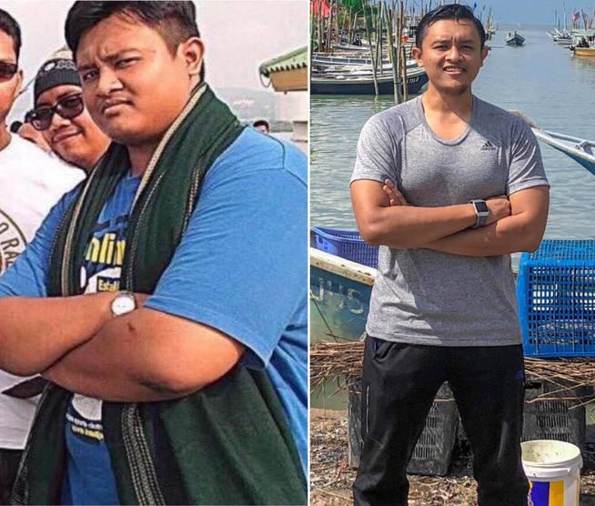 El antes y el después de Arif Sukri, más que visible (Foto: Facebook)