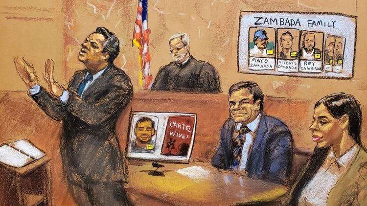 Durante el juicio de Guzmán Loera en Nueva Yor Foto: Reuters