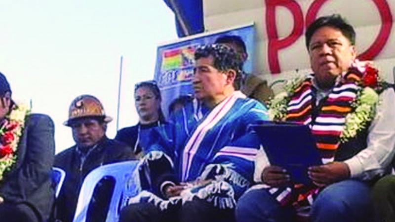 Borda presidente, entre su Potosí y  la Casa del Pueblo