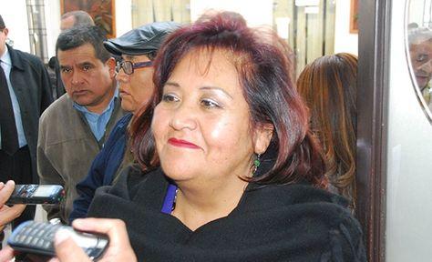 La jefa de Bancada Nacional del MAS en la Cámara de Diputados, Betty Yañiquez. Foto: La Razón - archivo