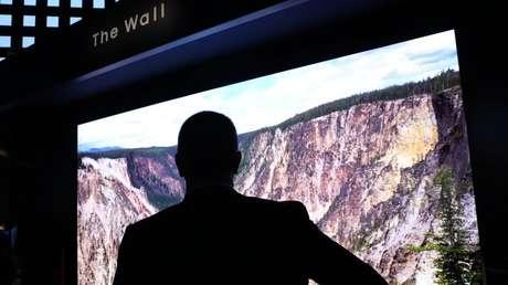 Un televisor The Wall de Samsung, Las Vegas, EE.UU., 8 de enero de 2019.