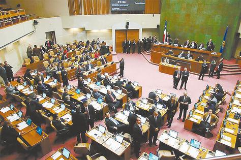Entidad. Una sesión del pleno de la Cámara de Diputados de Chile.