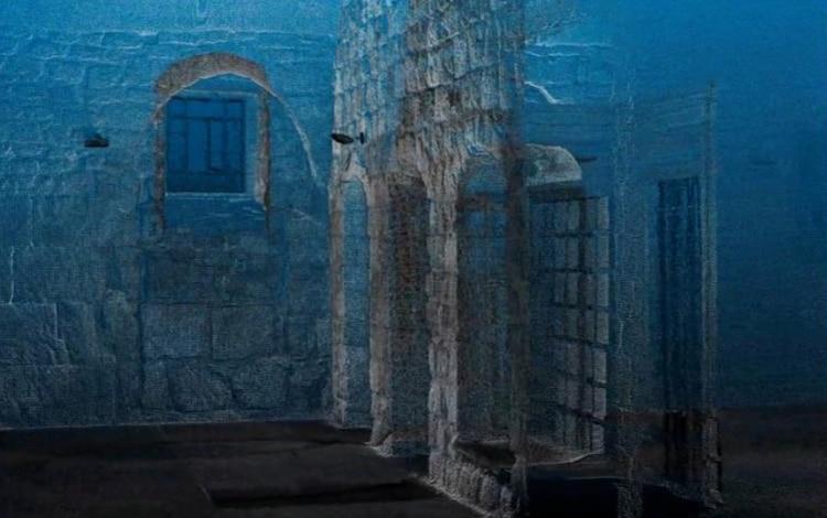 Una imagen fija obtenida del video que muestra un modelo 3D, creado usando tecnología avanzada, del cenáculo, una sala venerada por cristianos como el lugar de la última cena de Jesús, en el Monte Sion cerca de la Ciudad vieja de Jerusalén. Cortesía de Science and Technology in Archaeology and Culture Research Center, The Cyprus Institute via REUTERS.