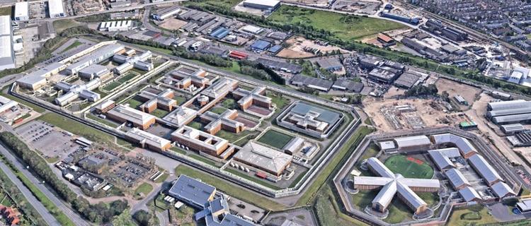 Prisión de Su Majestad Belmarsh es una prisión de hombres de categoría A en Thamesmead, sureste de Londres, Inglaterra. Foto: Peter Laing