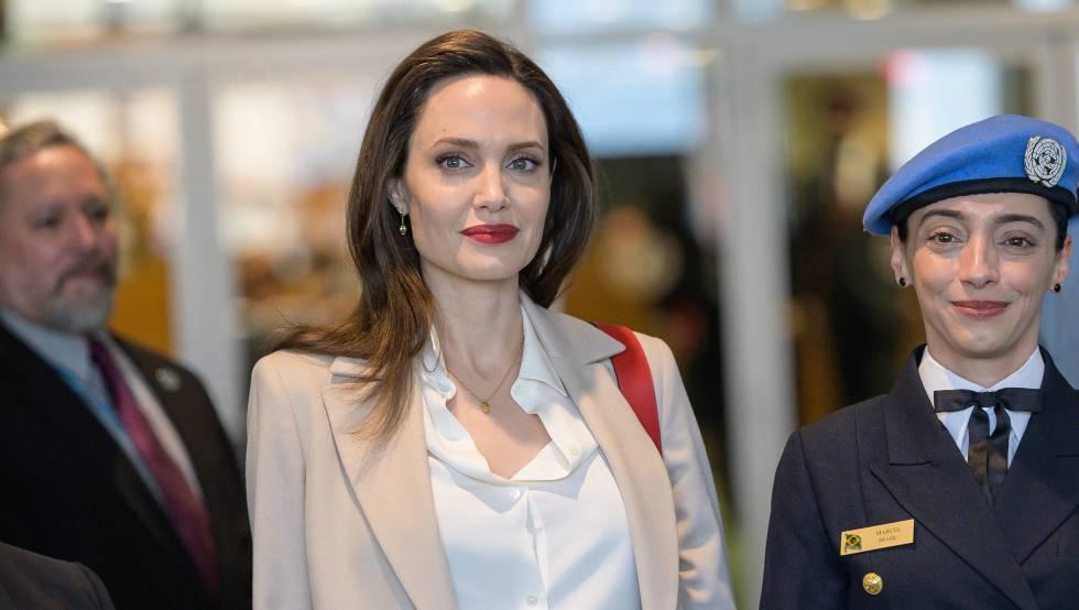 Angelina Jolie, el 29 de marzo en la ONU en Nueva York.