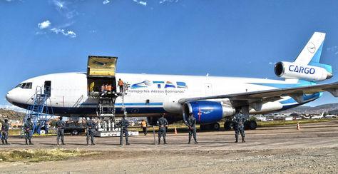 Una aeronave de la compañía Transportes Aéreos Bolivianos (TAB). Foto: www.tab-bolivia.com