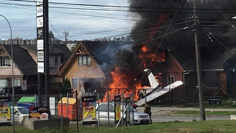 Chile: Seis muertos al caer una avioneta sobre una casa (VIDEO, FOTOS)