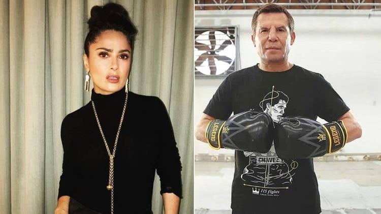 Salma Hayek y Julio César Chávez tuvieron una relación extramarital, según la serie biográfica del boxeador (Foto: Instagram)