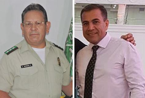 El coronel Gonzalo Medina y el capitán Fernando Moreira