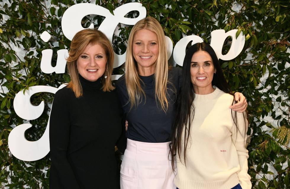 Arianna Huffington, Gwyneth Paltrow y Demi Moore en el Goop Health Summit, en Nueva York este mes de marzo.