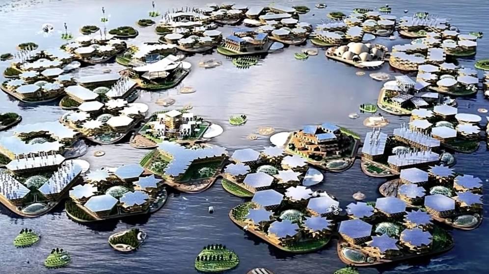 Foto: Imagen de cómo quedarían las ciudades flotantes. (CC)