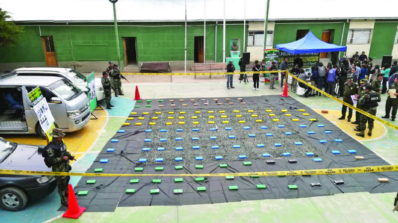 Narcosargento acopiaba droga en El Alto para llevarla a Brasil