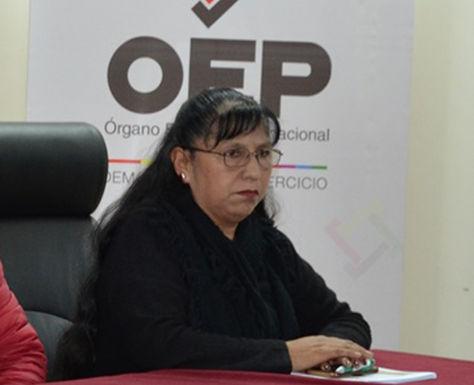La vocal del Tribunal Supremo Electoral, Lucy Cruz. Foto: Fuente Directa