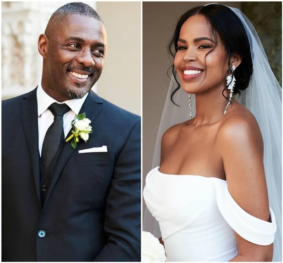 Elba Idris y Sabrina Dhowre, el día de su boda, en unas imágenes publicadas por la edición británica de