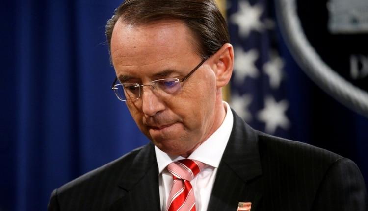 """Rod Rosenstein es el """"número dos"""" del Departamento de Justicia (REUTERS/Leah Millis/File Photo)"""