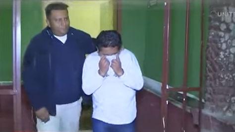 Momento en el que Mauricio R.P. es trasladado a celdas policiales.