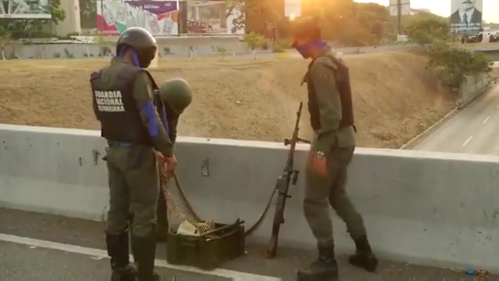 Las Fuerzas Armadas que apoyan a Juan Guaidó