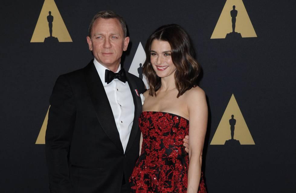 Daniel Graig y su esposa Rachel Weisz en un evento en Los Ángeles.
