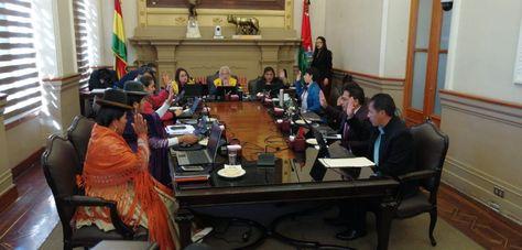 La sesión del Concejo Municipal de La Paz.