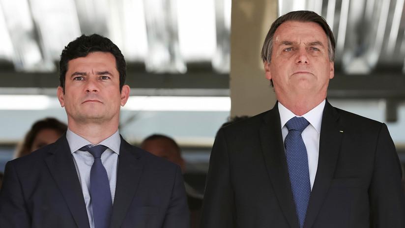 Tras las polémicas filtraciones, Bolsonaro elogia a Moro: