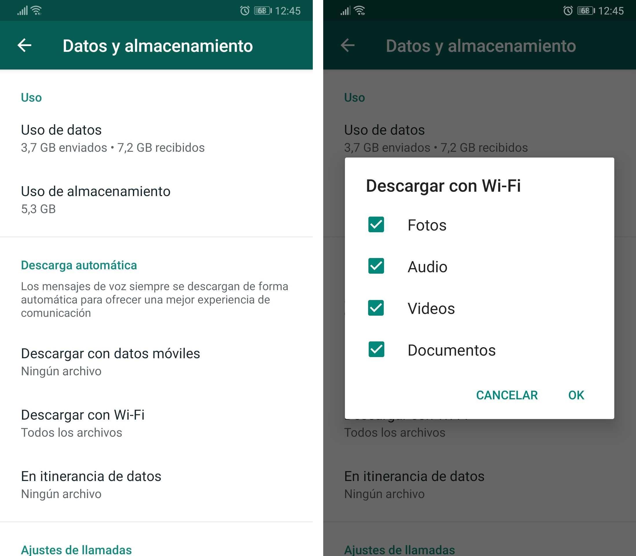 WhatsApp descargas