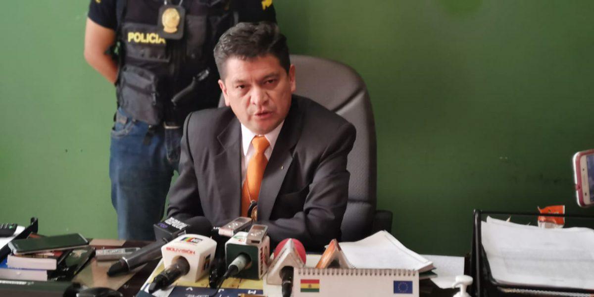 Resultado de imagen para El director de la Fuerza Especial de Lucha Contra el Crimen (Felcc) de La Paz, Sergio Bustillos