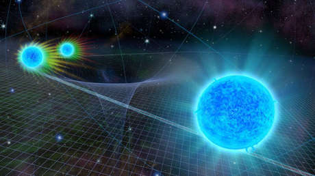 Representación artística de la estrella S0-2 acercándose al agujero negro Sagitario A*