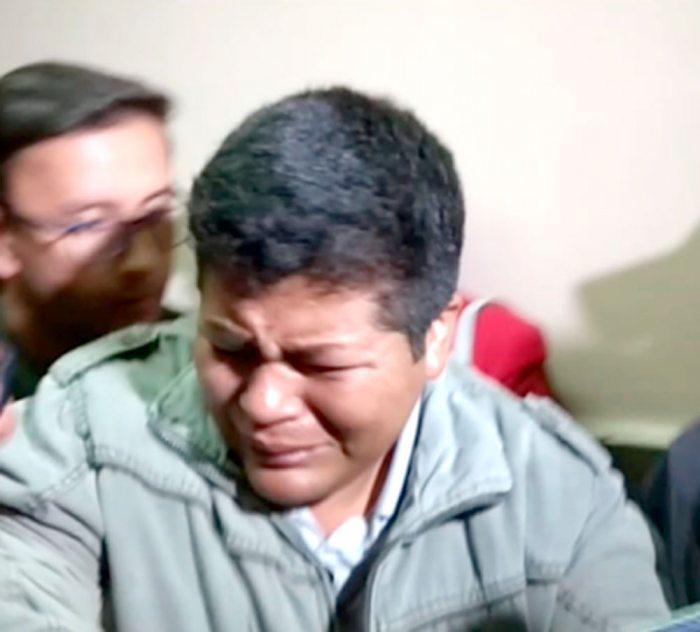 FRANCLIN GUTIÉRREZ, EN UNA DE SUS AUDIENCIAS DONDE PEDÍA EL CESE A SU DETENCIÓN PREVENTIVA.