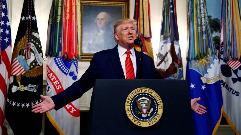 El presidente Donald Trump en la Casa Blanca.