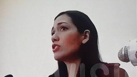 La presidenta de la cámara de Senadores. Foto: Captura Red Uno