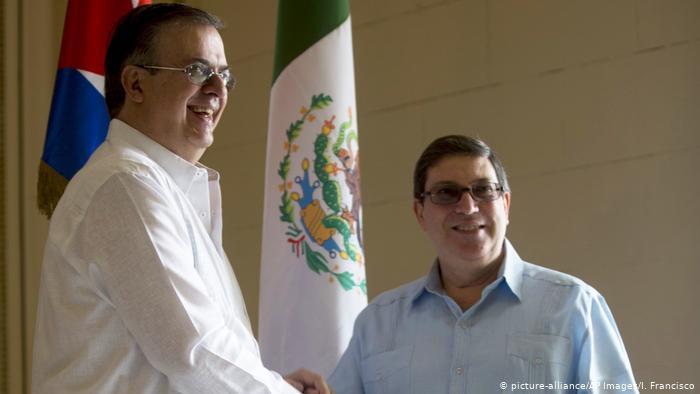 Marcelo Ebrard und Bruno Rodríguez (picture-alliance/AP Images/I. Francisco)
