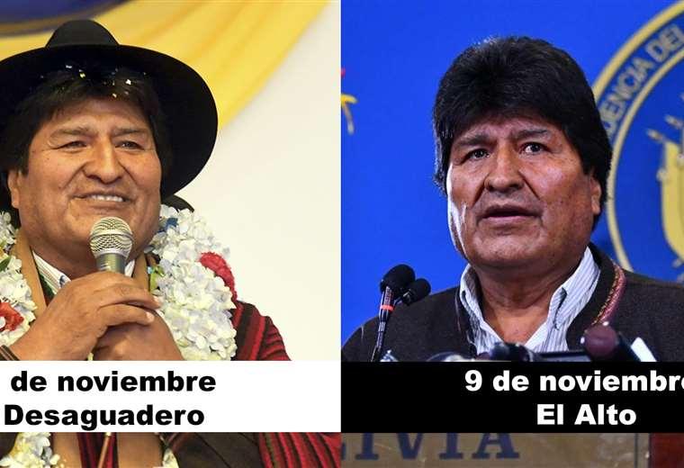Evo Morales ayer y hoy