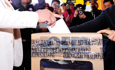 Foto de archivo de un acto electoral en Bolivia