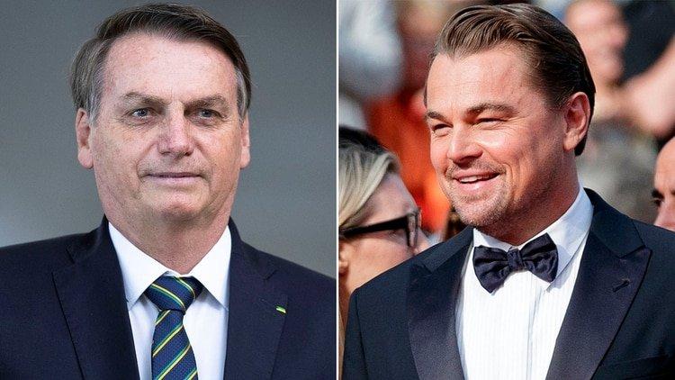 Jair Bolsonaro y Leonardo DiCaprio