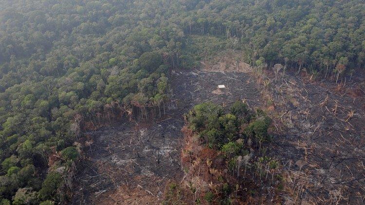 Vista aérea de Humaita, estado del Amazonas, Brasil el 22 de agosto de 2019