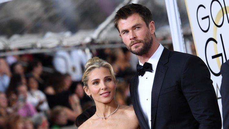 Mandatory Credit: Photo by Tyler Boye/WWD/Shutterstock (7734782kd) Elsa Pataky and Chris Hemsworth 74th Annual Golden Globe Awards, Arrivals, Los Angeles, USA - 08 Jan 2017