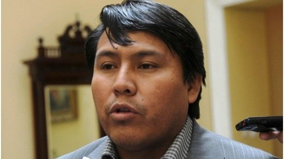 Exdiputado del MAS, Edwin Tupa. ABI