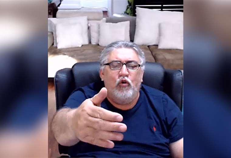 Humberto Roca conversó con El Deber a través de Skype. Foto: captura